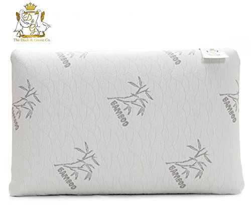 Premium Memory Foam Pillow, Neck Support and Neck Pain Relieve, with Stay Cool Dust Mite Resistant Bamboo Cover [LIFETIME GUARANTEE]  by Duck & Goose Co