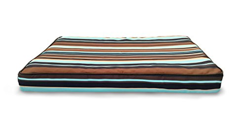 Furhaven Orthopedic Mattress Pet Bed, Medium, Espresso Stripe, for Dogs and Cats
