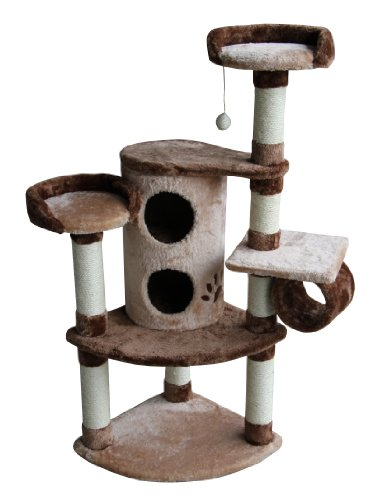 Kitty Mansions Nashville Cat Tree, Beige/Brown