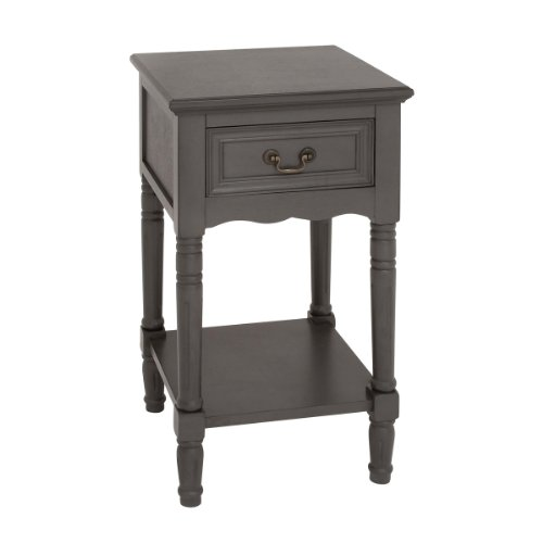 Urban Designs Solid Wood Night Stand Table, Grey