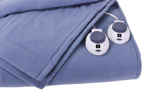 Soft Heat Luxury Micro-Fleece Low-Voltage Electric Heated King Size Blanket, Slate Blue