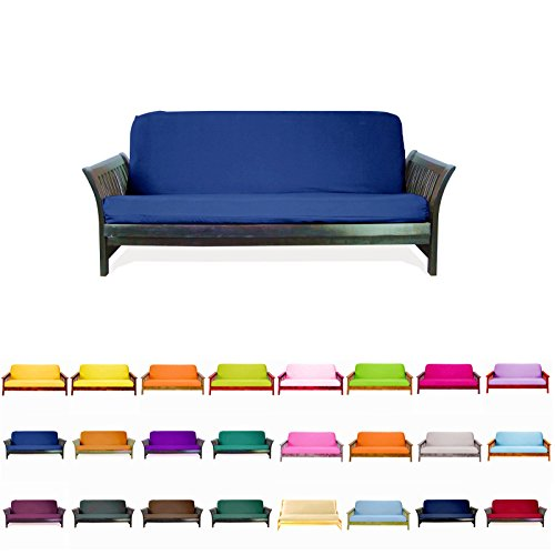 Magshion@Futon Cover Slipcover (Royal Blue, Full (54×75 in.))