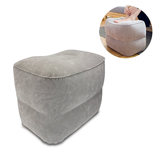 Inflatable Foot Rest Pillow Multi-function Foldable Leg Cushion Travel Ottomans Home Relax Reduce dvt Risk On Flights Suitable For Airplanes, Cars, Buses, Trains, Office Napping, Camping