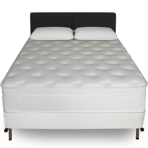 Sleep Master iCoil 13 Inch Euro Top Spring Mattress and BiFold Box Spring Set,Queen
