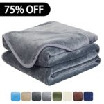 Luxury Fleece Super Soft Thermal Blanket Warm Fuzzy Microplush Lightweight Blankets for Bed Sofa, Seashell Series,Twin,66 by 90 Inches,Gray