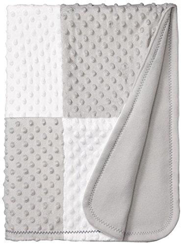 Spasilk Minky Raised Dot Blanket With Satin Trim, Grey, One Size