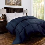 Zen Bamboo Luxury Goose Down Alternative Comforter – All Season Hotel Quality Hypoallergenic Duvet Insert with Cooling Bamboo Blend Fabric – Twin/Twin XL – Navy