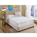 Mattress Pad Cal-King Size 2 Inchs Loft-400TC Cotton Top Water Resistant And Body Temperature Control-68oz Down Alternative Filling Pillowtop Mattress Topper Cover-Fitted Quilted 8-21 Inch Deep Pocket