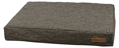 M-Pets Dark Grey Orthopedic Mattress Pet Bed for Dogs or Cats, 43-inch