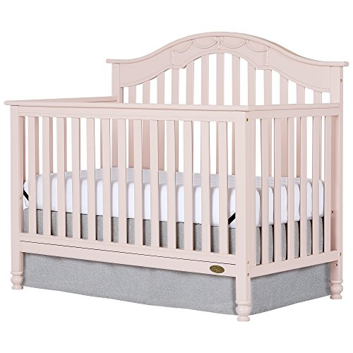 Dream On Me Charlotte 5-In-1 Convertible Crib, Blush Pink