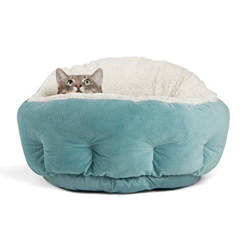 "Best Friends by Sheri OrthoComfort Deep Dish Cuddler (20x20x12"") – Self-Warming Cat and Dog Bed Cushion for Joint-Relief and Improved Sleep – Machine Washable, Waterproof Bottom – For Pets Up to 25lbs"