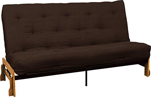 Springaire 10-Inch Loft Inner Spring Futon Mattress, Queen-size, Microfiber Suede Chocolate Brown Mattress Color