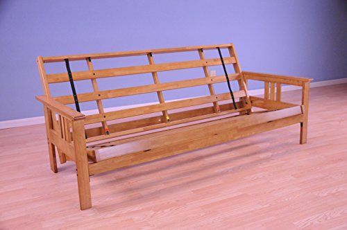 Kodiak Furniture KFMOBTFRAMESET2 Monterey Futon Frame Finish, Full, Butternut