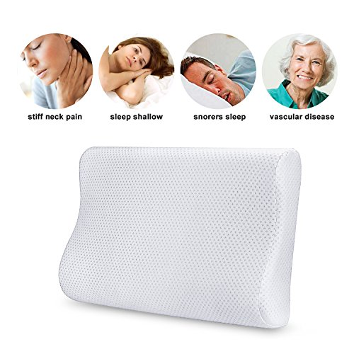 Memory Foam Pillow Hypoallergenic Material Comfortable Pillow with Removable Soft Case By Aohayo