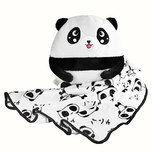 Pedora 2 In 1 Cartoon Plush Animal Toy Throw Blanket Pillow Set (Blanket Only 40 x 67 inch)