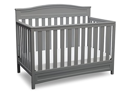 Delta Children Emery 4 in 1 Convertible Crib, Grey