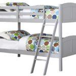 Angel Line Creston Bunk Bed, Twin, Gray