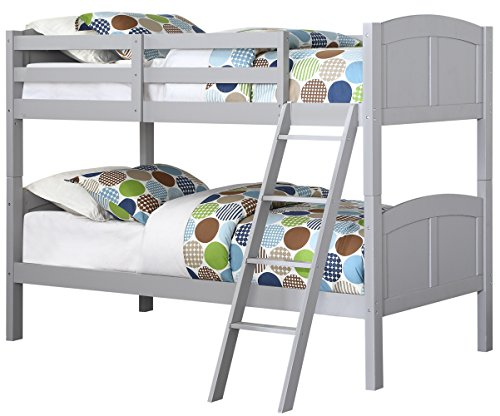 Angel Line Creston Bunk Bed, Twin, Gray