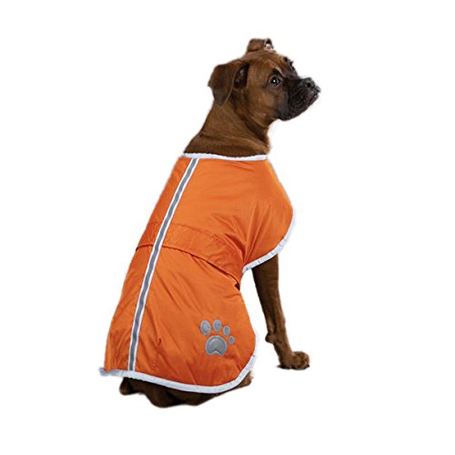 Zack & Zoey Nor'easter Blanket Coat for Dogs, 24″ X-Large, Orange