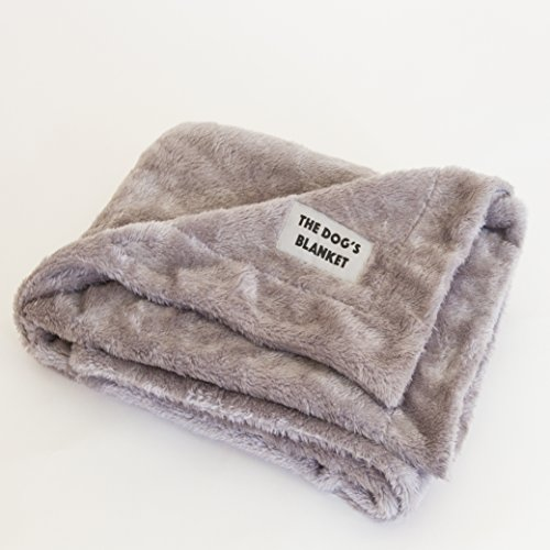 The Dog's Blanket, Premium Quality Dog Blanket in Grey & Brown, Reversible, Soft Microfiber Luxury for your Dog or Puppy to Enjoy