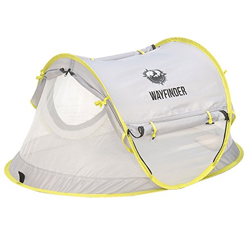 WayFinder Baby Crib Tent, Portable Baby Travel Bed Indoor and Outdoor Pop Up Beach Tent with UV Protection and Mosquito Net