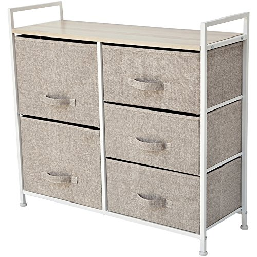 """Storage Cube Dresser – Organize your Nursery, Bedroom, or Play Room with this Fabric Bin Storage Unit – Simple, Lightweight, Durable (Size: 32.6"""" x 11.4"""" x 30.3"""")"""