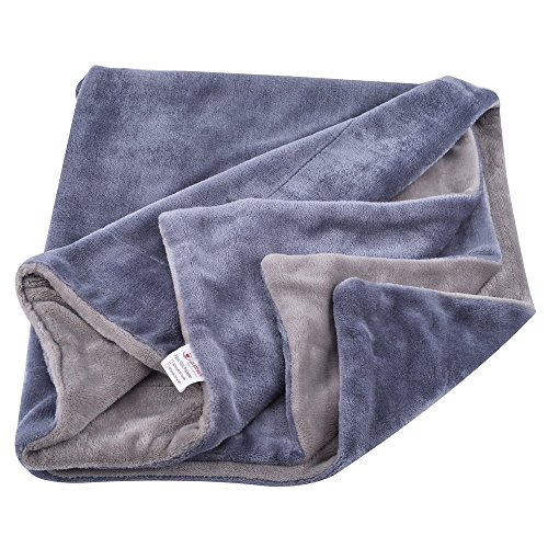 Reversible Dog Bed Blanket – Pet Flannel Soft Throw Grey Large by PUPETCK