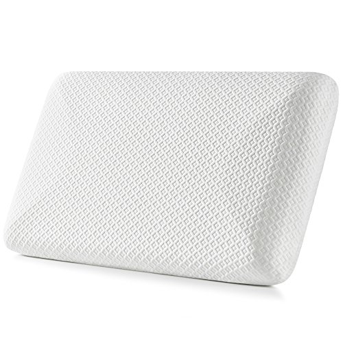 Memory Foam Pillow for Side Sleepers- Jiaao Hypoallergenic Bed Pillow for Neck Pain Relief, Top Rated Cervical Pillow for Back Sleepers, Including Removable Scuba Cover with Invisible Zipper, Standard
