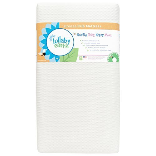Lullaby Earth Breeze 2- Stage Crib Mattress – White by Naturepedic
