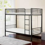 Merax Twin-Over-Twin Metal Bunk Bed in Black