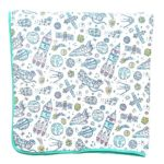 100% Organic Muslin Everything Blanket by ADDISON BELLE – Oversized 47 inches x 47 inches – Best Baby/Toddler Gift – Premium 4 Layer Muslin Blanket/Dream Blanket (Space Print)