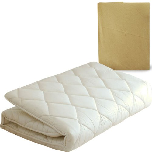 "EMOOR Japanese Traditional Futon Mattress ""Classe"" (39 x 83 x 3 in.) with Mattress Cover (Beige), Twin Size. Made in Japan"