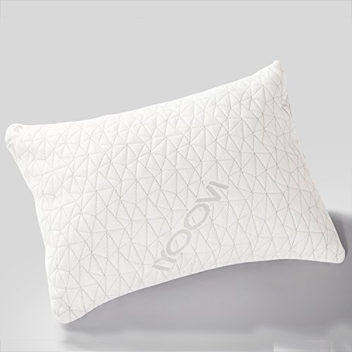 IYOOVI Shredded Memory Foam Pillow Neck Support Pain Relief With Washable Bamboo Pillow Case Bed Pillow