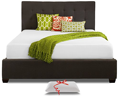 Live and Sleep Resort Classic Twin XL Size 10-Inch Cooling Medium-Firm Memory Foam Mattress and Pillow, CertiPUR Certified, Twin Extra-Long
