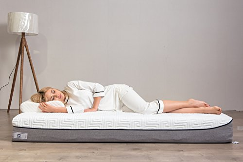 Memory Foam Mattress 9 Inch Cool Gel Foam Mattress with Removable Elaborate Jacquard Mattress Protector Hypoallergenic Firm Bed Mattress by TAMPOR, Twin