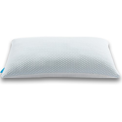 Hapnose Memory Foam Pillow For Neck Pain, Side Back Sleepers – Adjustable Shredded Hypoallergenic Bed Pillow With Removable Washable Cooling Case and Warm Cover – Queen