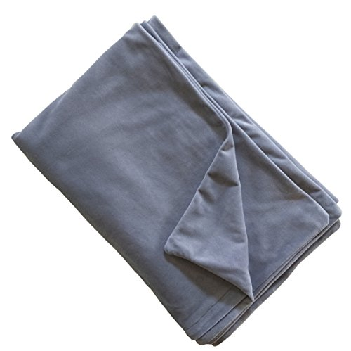 Weighted Blanket Velvet Cover, Removable Duvet Covers for Weighted Blanket Inner Layer Keeping Clean, While Protecting The Heavy Sensory Blanket – Dark Grey 60″x80″