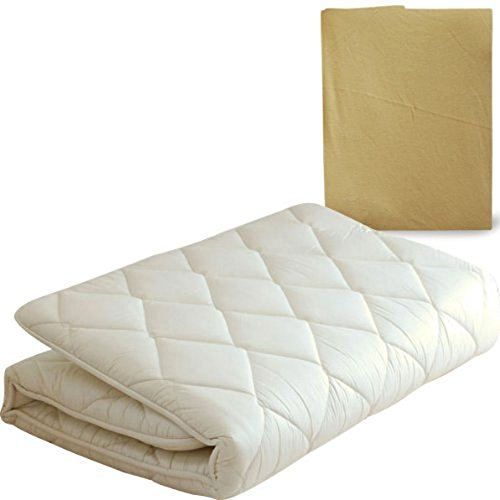 """EMOOR Japanese Traditional Futon Mattress """"Classe"""" with Mattress Cover (Beige), Full Size. Made in Japan"""