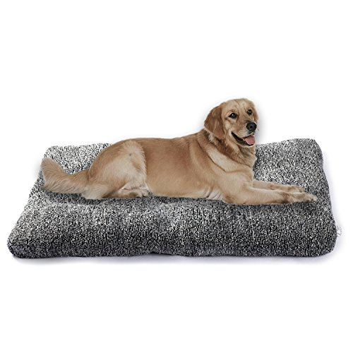 Suppets Pet Plush Mat Collapsible Dog Bed Mattress Deluxe Cat Sofa Dog Warm Cushion Medium & Large Size for Large Dogs and Small Dogs & Cats,Washable Anti-Slipe – 41″x27″