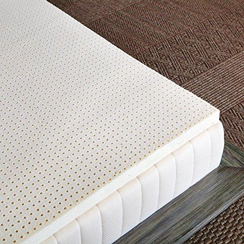 Pure Green 100% Natural Latex Mattress Topper – Medium Firmness – 2″ Queen Size
