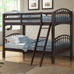 Harper&Bright Designs Twin-Over-Twin Solid Hardwood Bunk Bed (Espresso)
