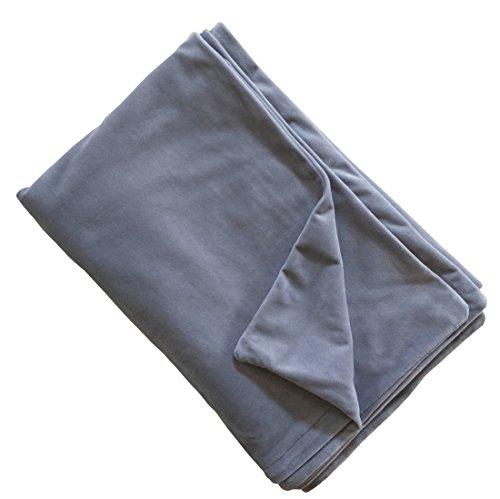 Removable Velvet Duvet Cover for Weighted Blanket Inner Layer, Luxury Bedding Blanket, Breathable & Soft for All Seasons Bedding – Dark Grey 36″x48″