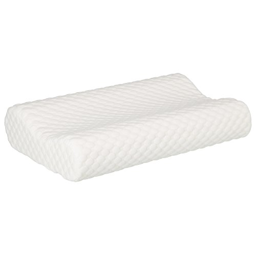 Samtena Orthopedic Memory Foam Contour Pillow with Hypoallergenic Pillow Case for Neck Support and Pain Relief, OEKO-TEX STANDARD 100, Made in Germany Size: 20 x 13 x 4 in