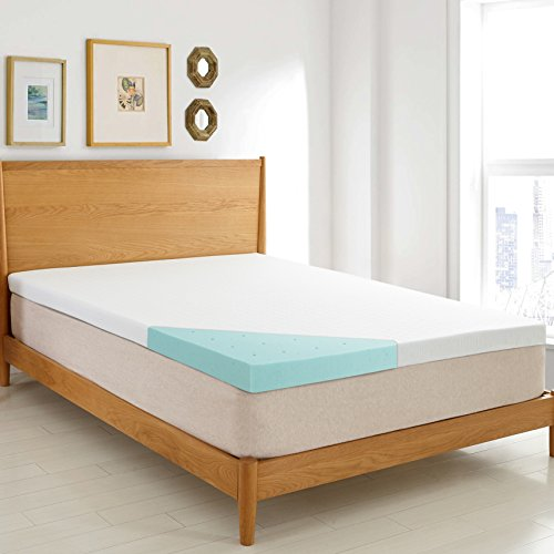 HOFISH 3- inch Memory Foam Mattress Topper CertiPUR-US Certified with Removable Zippered Hypoallergenic Cover and Non Slip Bottom-Twin