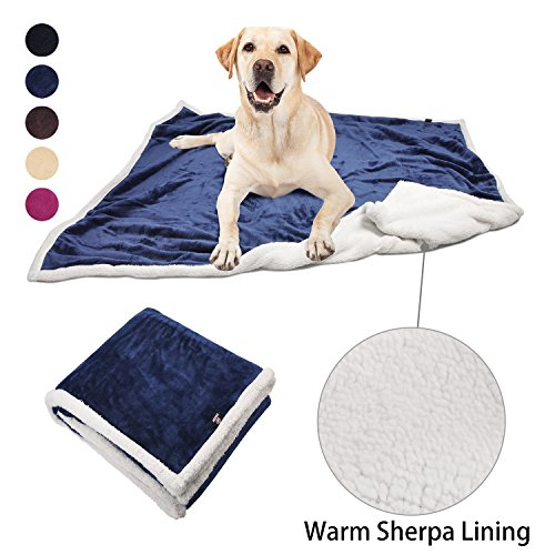 Pawsse Dog Puppy Blanket, Super Soft Warm Micro Fleece Plush Sherpa Pet Cat Throws Blanket Snuggle Cushion Mat for Small Animals 60×49