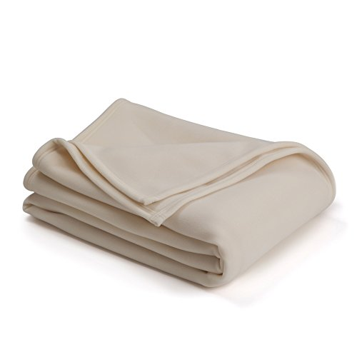 The Original Vellux Blanket – King, Soft, Warm, Insulated, Pet-Friendly, Home Bed & Sofa – Ivory