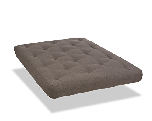 Serta Cypress Double Sided Innerspring Futon Mattress, Full, Antelope, Made in the USA
