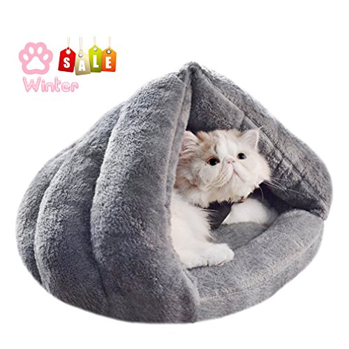 Soft Fleece Self-Warming Cat Bed Warm Sleeping Bed for Cats Winter Pets Puppy Indoor Pet Triangle Nest