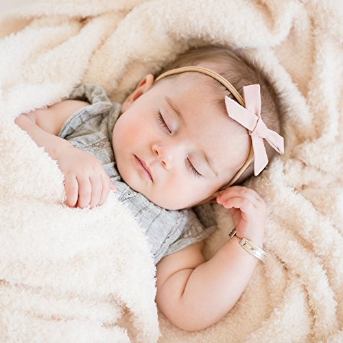 Saranoni Luxury Bamboni Receiving Baby Blanket (30″x40″) Ivory