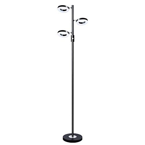 Pakfung 3 Lights LED Floor Lamp Adjustable Tree Lamp, 60 Inch 21 Watt Warm White Torchiere Lighting for Living Room, Bedroom and Office